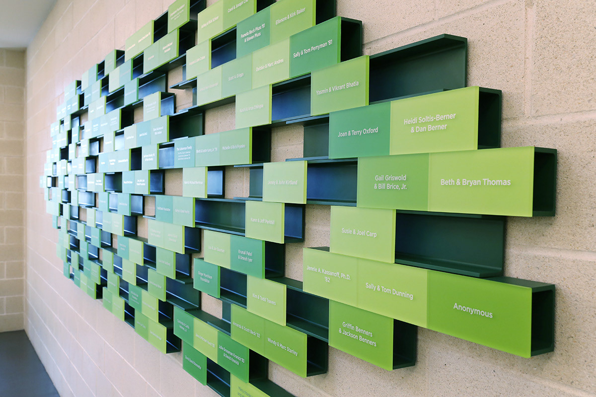 Greenhill School Donor Wall