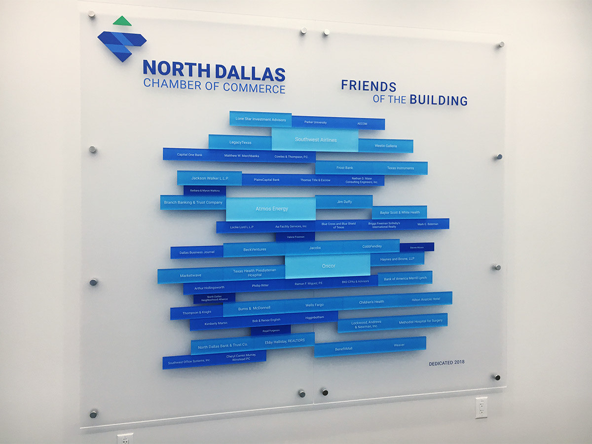 North Dallas Chamber of Commerce Donor Wall